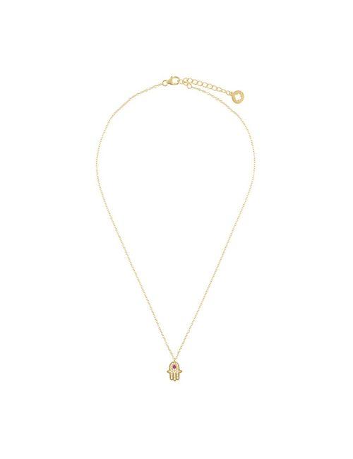 Nialaya Jewelry | Женское Желтый Hamsa Hand Pendant Necklace