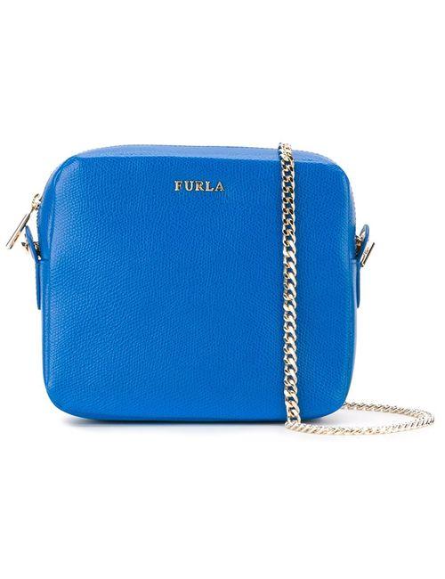 Furla | Женская Синяя Сумка На Плечо С Цепочной Лямкой