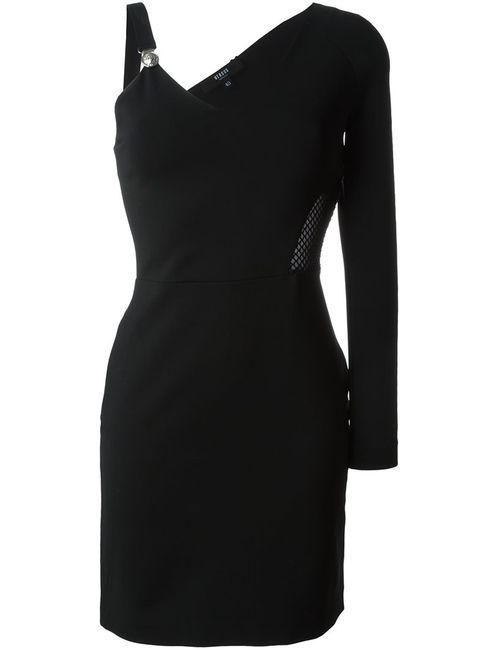 Versus | Женское Чёрное Короткое Платье С Одним Рукавом
