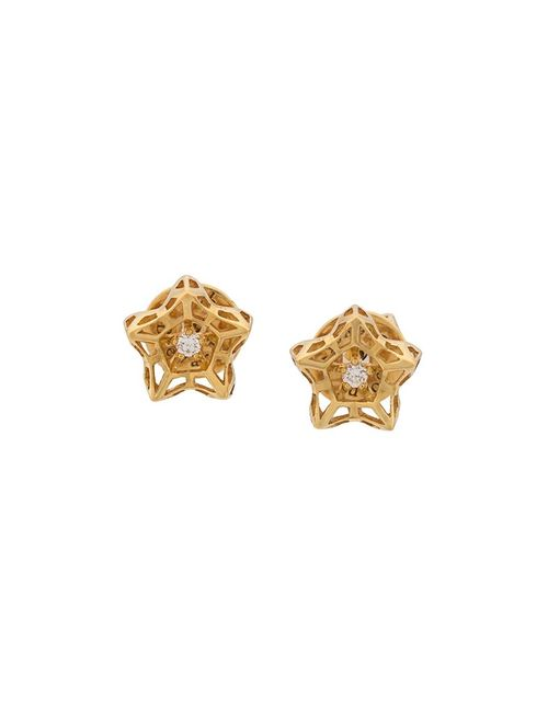 JOHN BREVARD | Женское Серебристый Mini Tria Frame Diamond Earrings