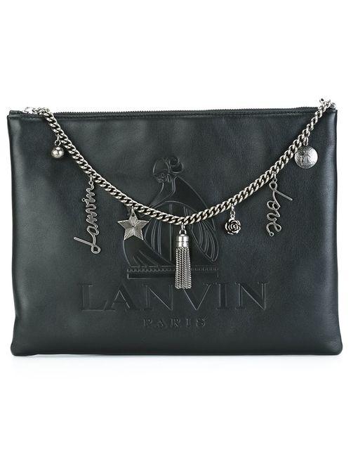 Lanvin | Женская Чёрная Сумка-Клатч Nomad