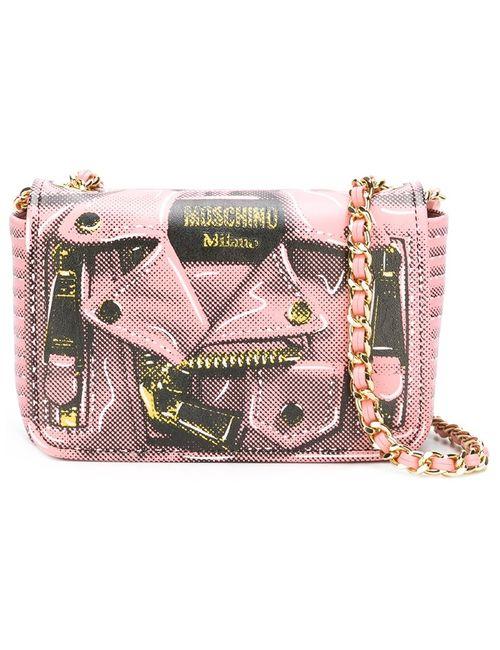 Moschino | Женское Розовый Trompe Loeil Biker Crossbody Bag