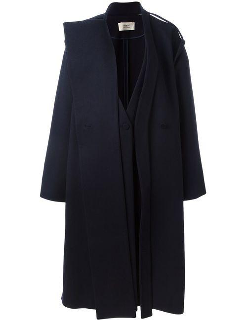 Ports | Женское Синее Двубортное Пальто