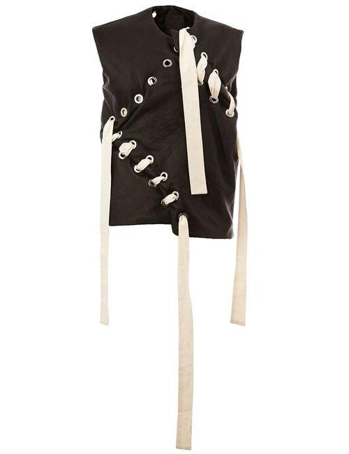 CRAIG GREEN   Мужское Чёрный Lace-Up Vest