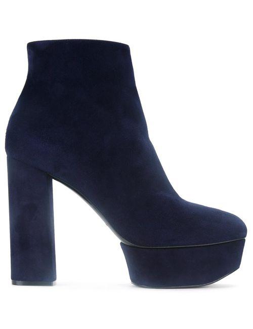 Casadei | Женские Синие Ботинки На Платформе