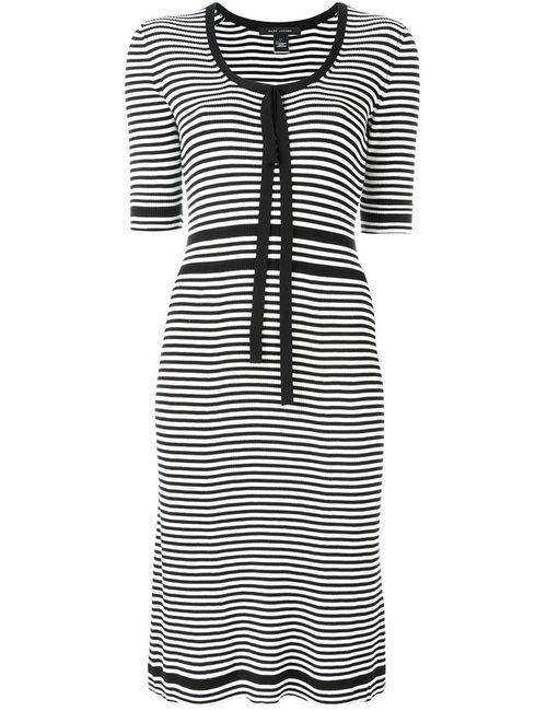 Marc Jacobs   Женское Чёрное Полосатое Платье Плотной Вязки