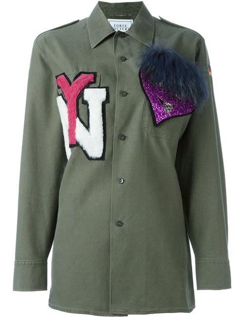 FORTE COUTURE | Женская Зелёная Рубашка Yankee