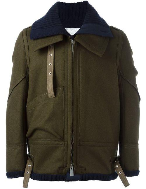 Sacai | Мужская Зелёная Многослойная Куртка