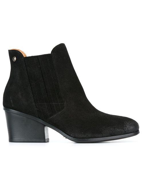 Buttero | Женские Чёрные Ботинки На Массивном Каблуке