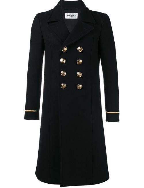 Saint Laurent | Мужское Чёрный Classic 70s Military Coat