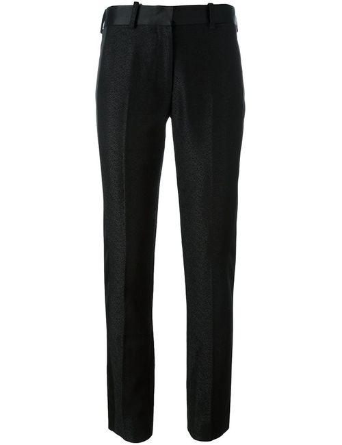 Victoria Beckham | Женские Чёрные Текстурированные Брюки Со Стрелками