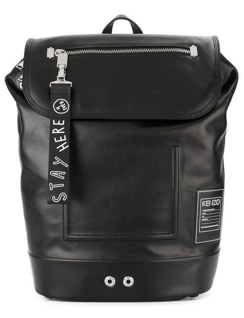 Kenzo | Мужской Чёрный Классический Рюкзак
