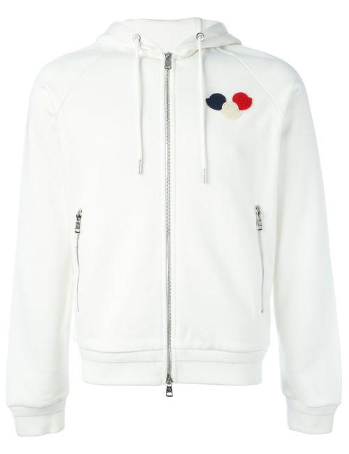 Moncler | Мужское Белый Logo Plaque Hoodie