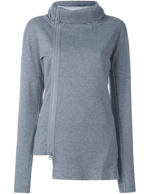 Y-3 | Женское Серый Off-Centre Zipped Sweatshirt