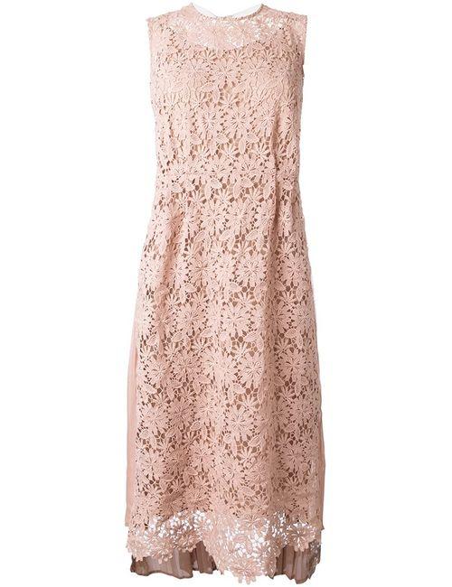 Muveil | Женское Розовое Платье С Вышивкой
