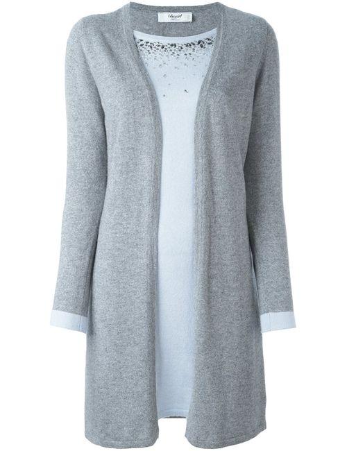 Blugirl | Женский Серый Многослойный Декорированный Кардиган
