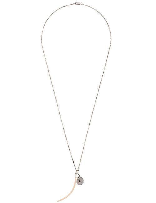 HENSON   Женское Серебристый Tusk Tag Necklace