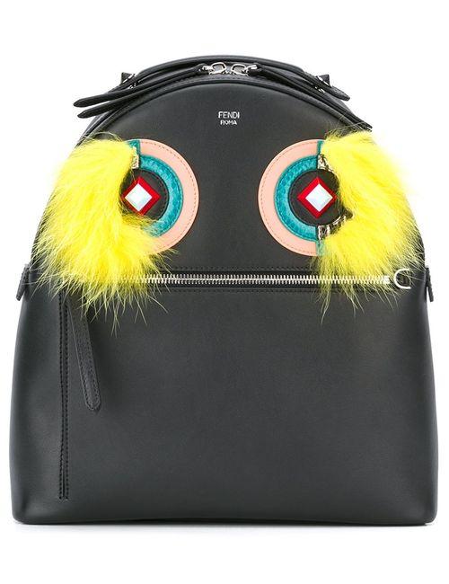 Fendi | Женский Чёрный Рюкзак Bag Bugs