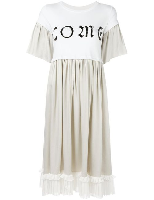 MM6 by Maison Margiela | Женское Белый Mm6 Maison Margiela Pleated T-Shirt Dress