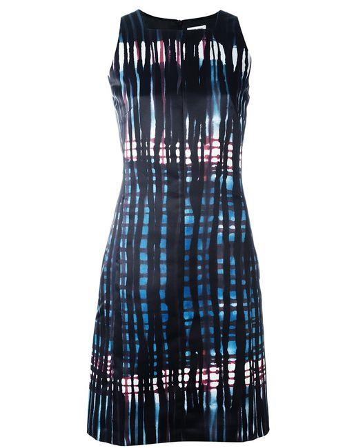 Tomas Maier   Женское Чёрное Платье С Абстрактным Узором