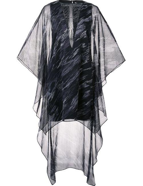 Halston Heritage | Женское Чёрное Платье Асимметричного Кроя