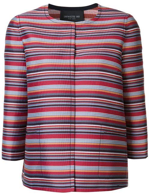 Lafayette 148 | Женское Красный Striped Cropped Jacket