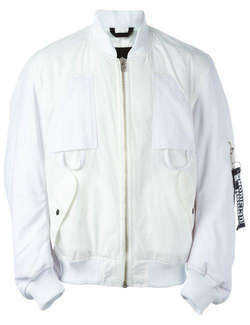 LIAM HODGES | Мужская Белая Куртка-Бомбер Mechanic