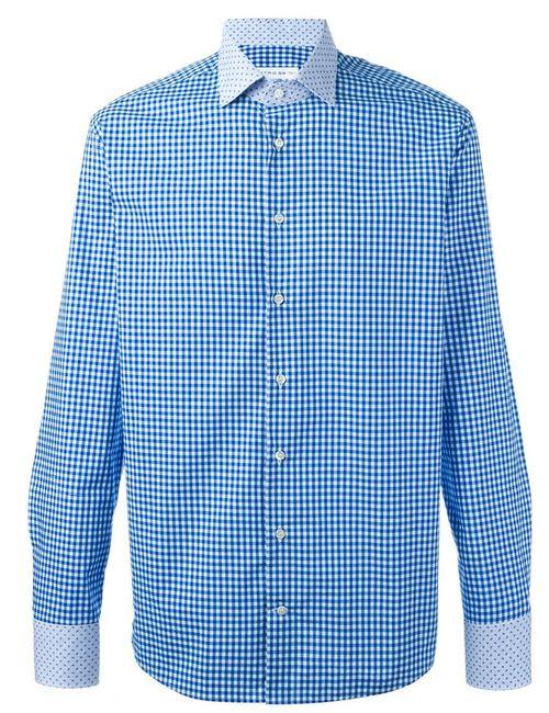 Etro | Мужская Синяя Рубашка В Клетку