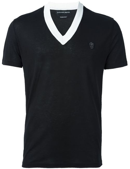 Alexander McQueen   Мужское Чёрный Skull Patch T-Shirt