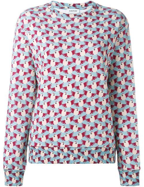 Au Jour Le Jour | Женское Синий Birds Print Sweatshirt