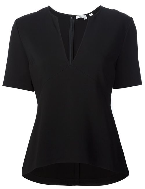 A.L.C. | Женская Чёрная Блузка C V-Образным Вырезом