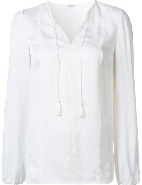 Elie Tahari | Женское Белый Tassel Detail Blouse