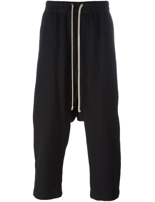 Rick Owens | Мужское Чёрный Drop-Crotch Cropped Trousers