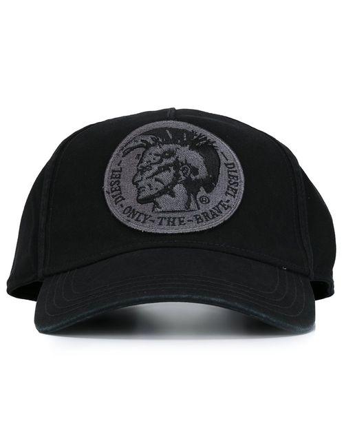 Diesel   Женское Чёрный Head Patch Cap