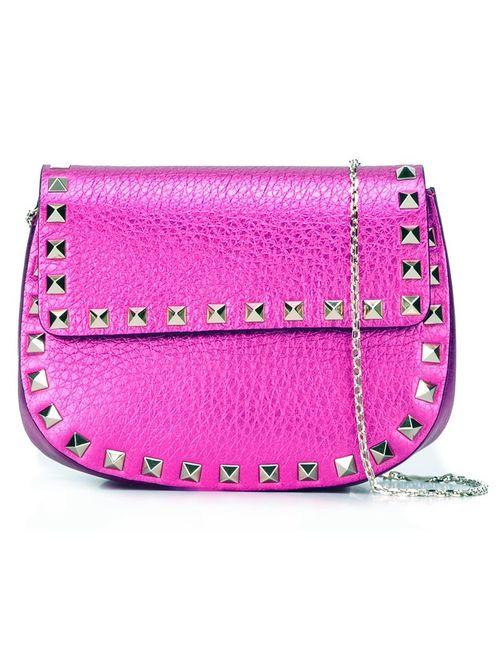 Valentino | Женская Розовая Сумка Через Плечо Rockstud