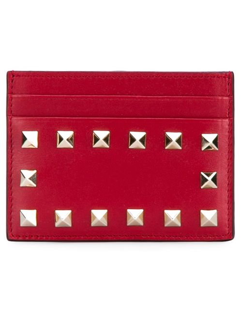 Valentino | Женское Красный Rockstud Cardholder