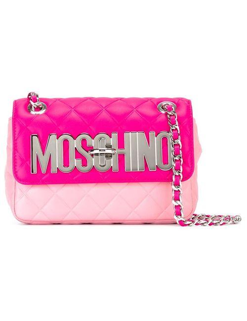 Moschino   Женская Розовая Сумка С Логотипом