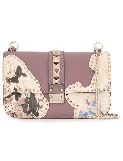 Valentino | Женская Розовая Сумка На Плечо Glam Lock С Цветочным