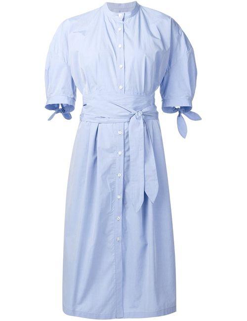 Sea | Женская Синяя Платье-Рубагка С Поясом