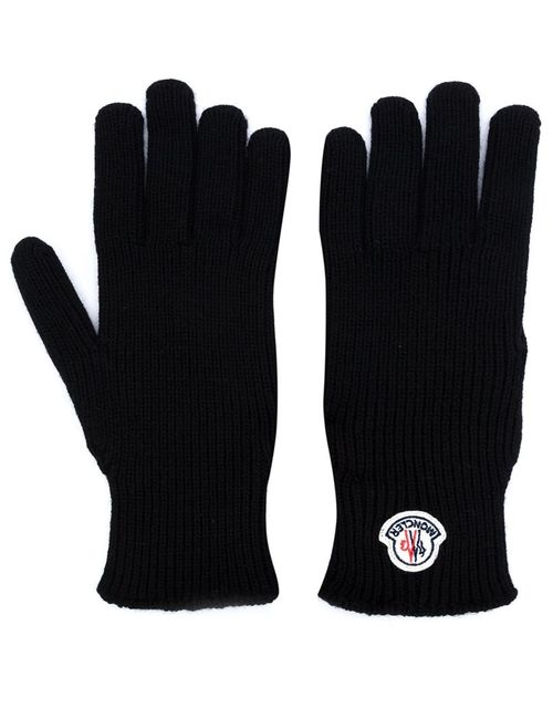 Moncler | Мужское Чёрный Logo Plaque Gloves