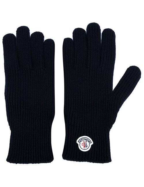 Moncler | Мужское Синий Logo Plaque Gloves