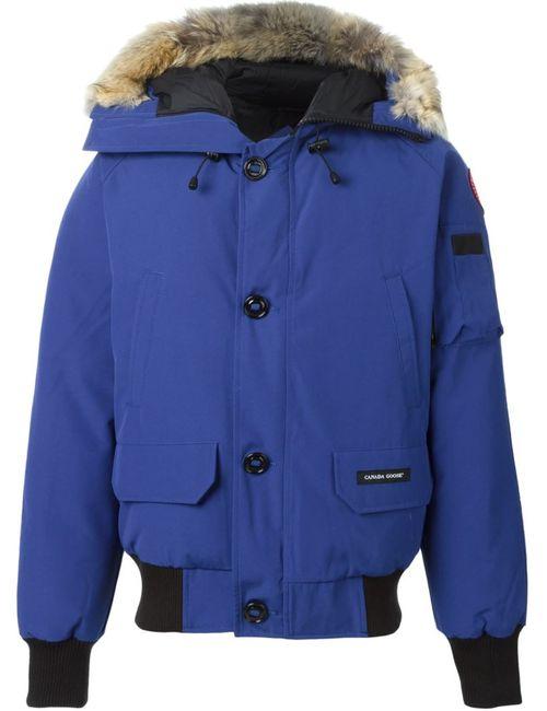 Canada Goose   Мужское Синий Fur Trim Padded Jacket