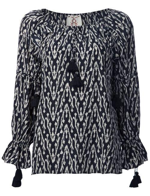 FIGUE | Женская Черный Блузка Clodie С Этническим Рисунком