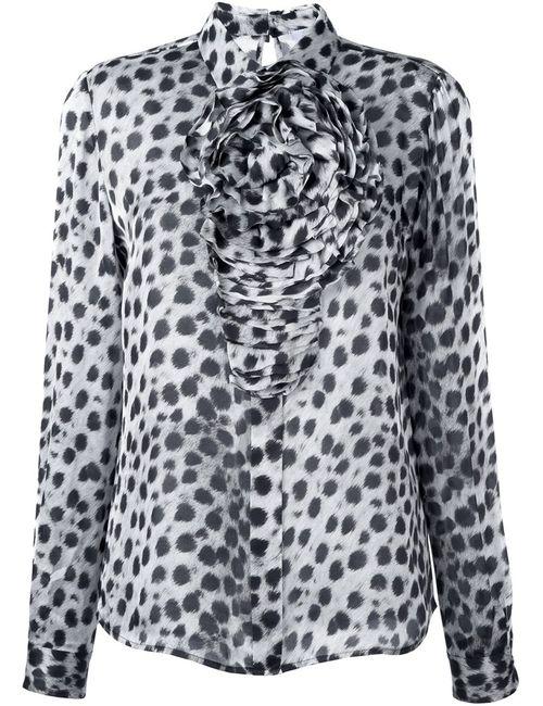 Blumarine | Женская Серая Рубашка С Леопардовым Принтом