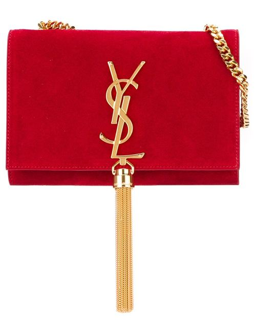 Saint Laurent   Женская Красная Сумка На Плечо Kate Monogram
