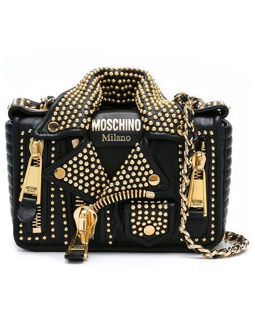 Moschino | Женская Черный Байкерская Сумка На Плечо