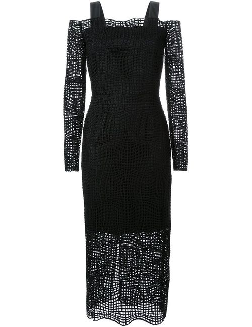 MANNING CARTELL | Женское Черный Платье Raw Intent С Длинными Рукавами