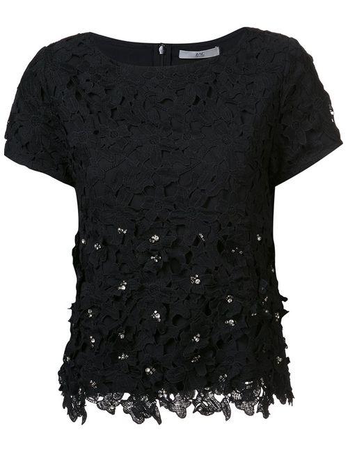 Zac Zac Posen | Женская Чёрная Декорированная Блузка Waldorf
