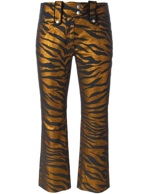 Kenzo | Женские Серебристые Укороченные Брюки Tiger