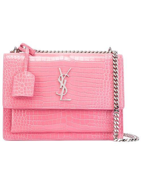 Saint Laurent | Женское Розовый Small Sunset Monogram Satchel Bag